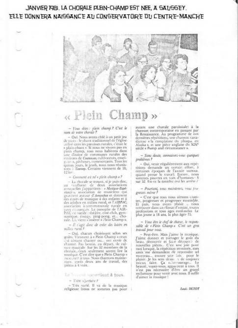 JANIVIER 1981