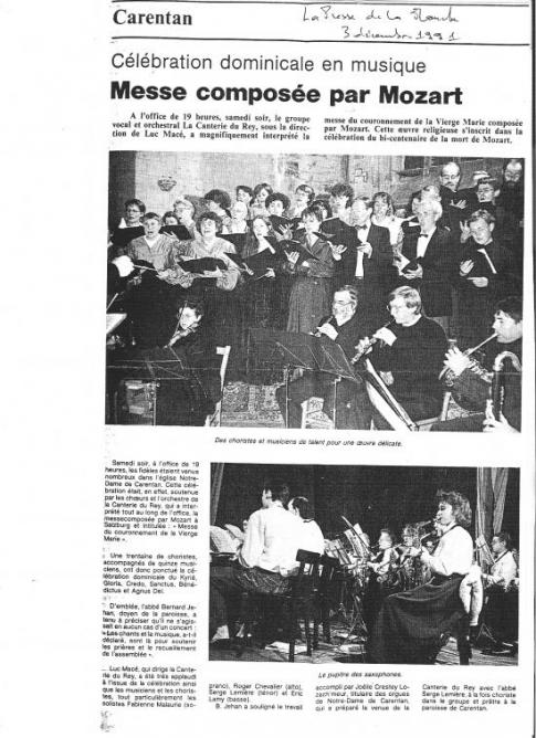 1991. Bicentenaire mort de Mozart